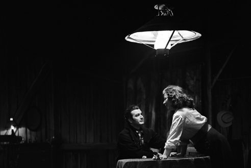 Franco Corelli con Gigliola Frazzoni ne La fanciulla del West, - Scala, gennaio 1964   (Archivio Teatro alla Scala)
