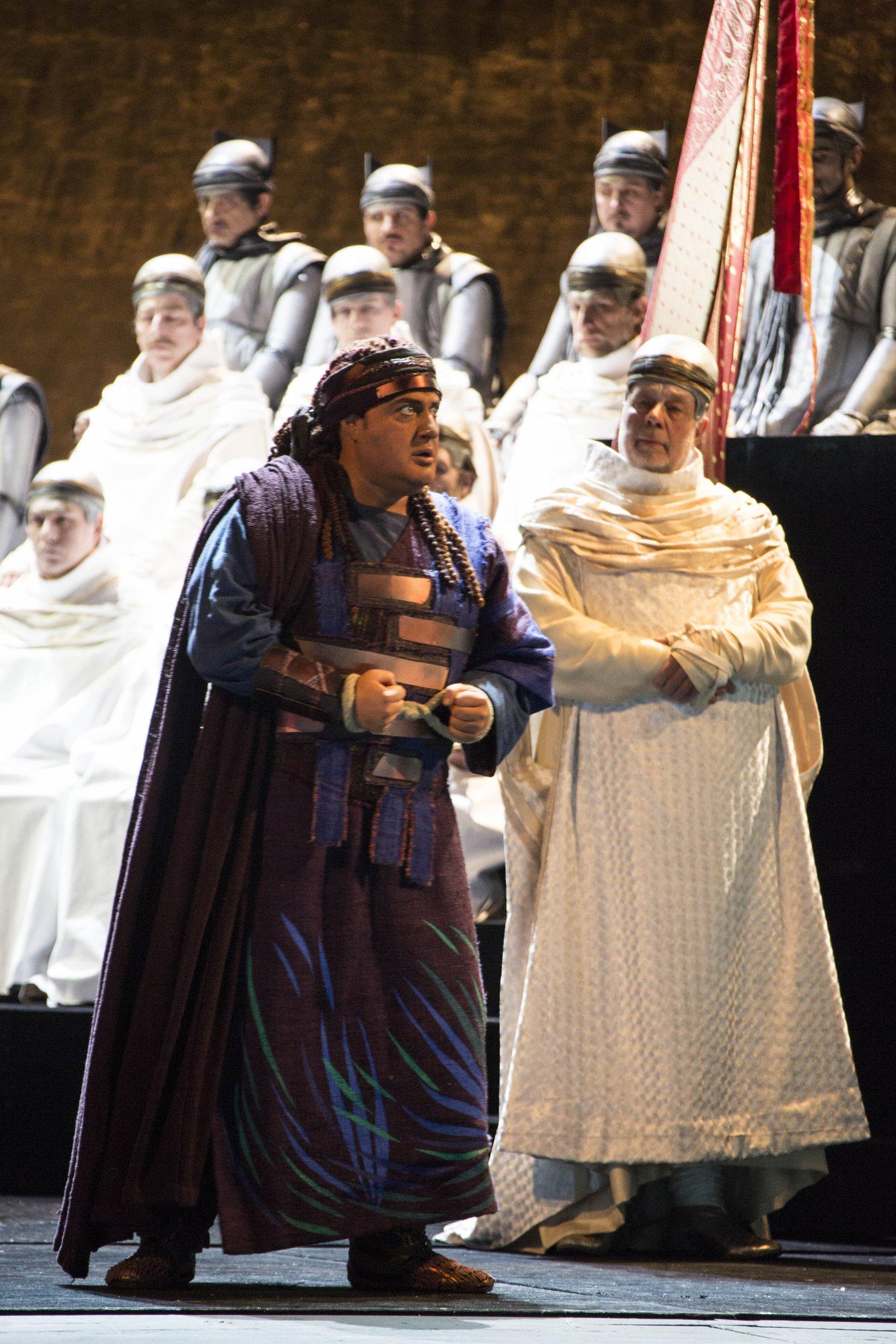 Amonasro alla Scala nella produzione di Stein 2015, credit Brescia/Amisano - Teatro alla Scala