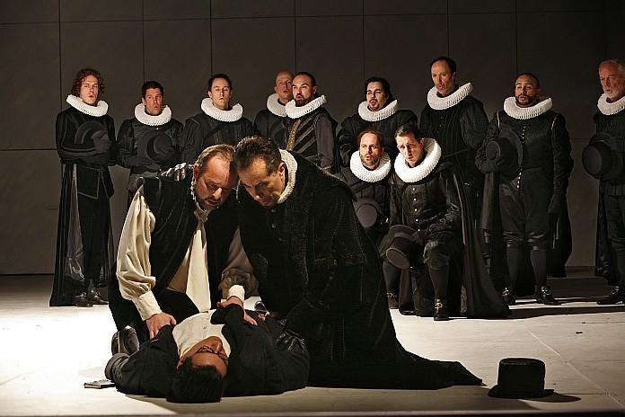 Filippo II in un Don Carlo alla Vlaamse Opera