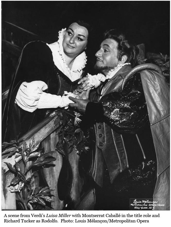 Montserrat Caballé (Luisa) e Richard Tucker (Rodolfo)