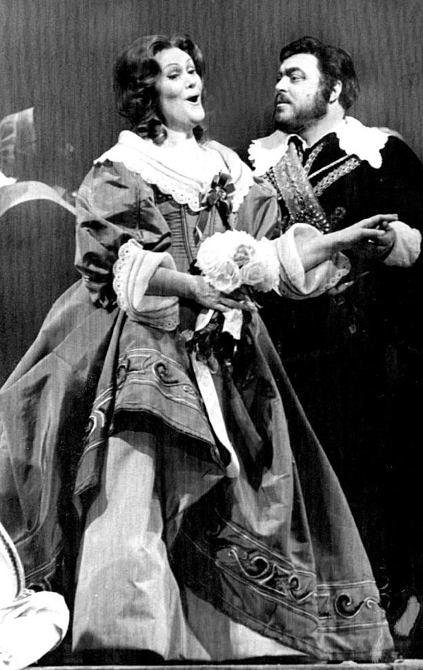 Luciano Pavarotti con Joan Sutherland
