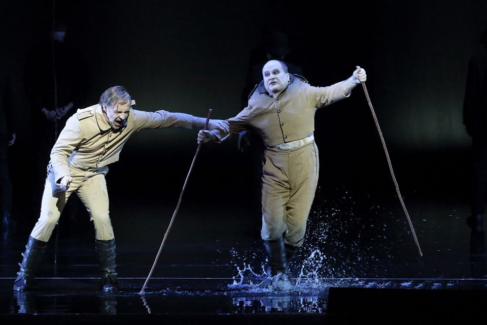 Christian Gerhaher (Wozzeck), Kevin Conners (Andres) - © Wilfried Hösl