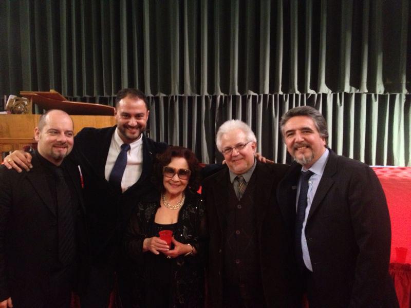 da sx: Milo Martani, Antonio Desiderio, Jeda Valtriani, Romano Franceschetto e Danilo Boaretto