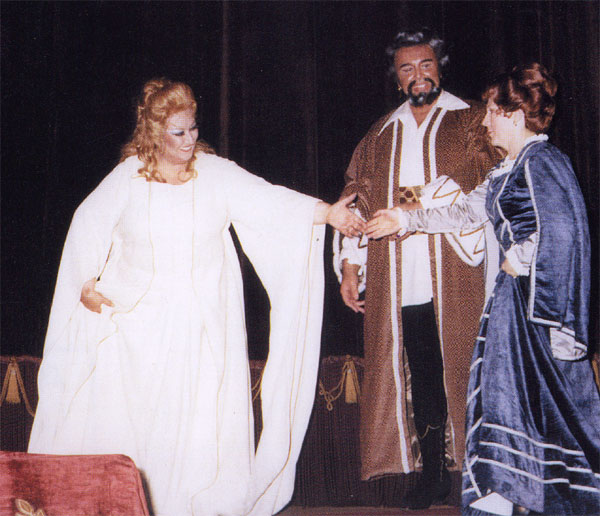 1983 - Oviedo: Otello accanto a Montserrat Caballé