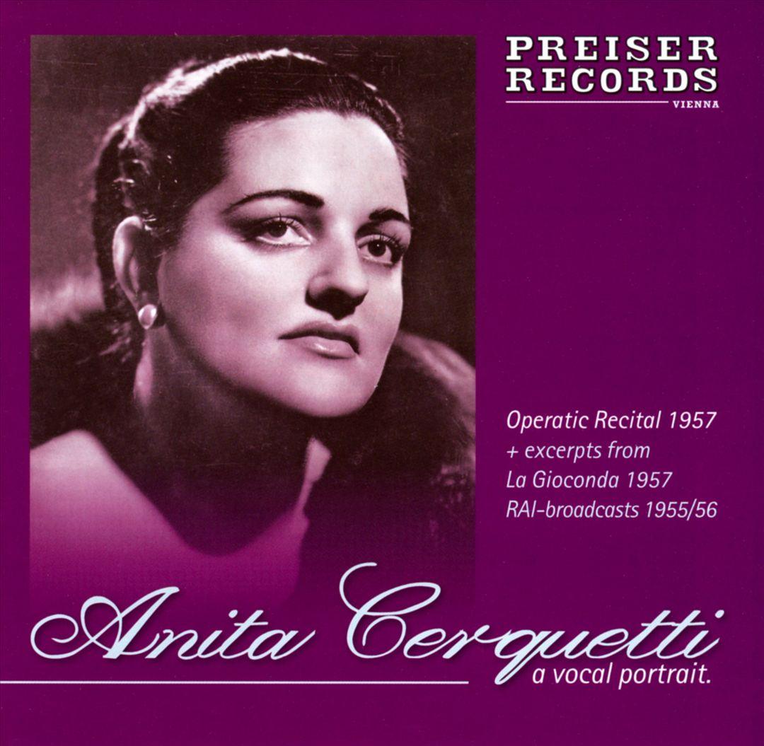 cover di un cd con Anita Cerquetti