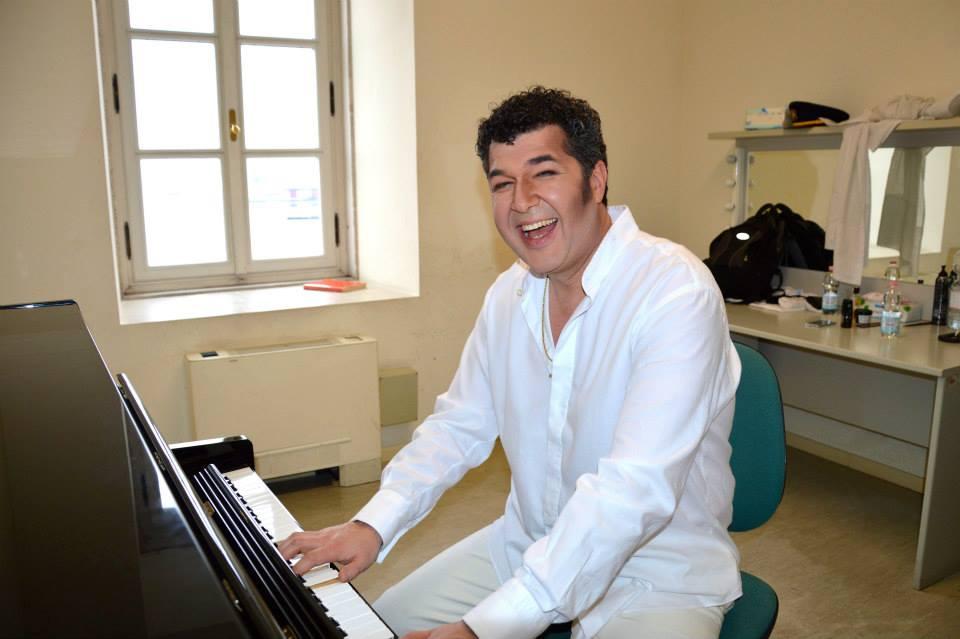 Luis Chapa - nel camerino del Teatro G.Verdi di Trieste