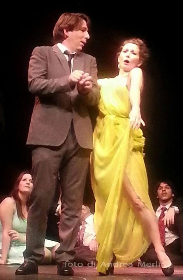 Foto di Andra Merli - Dulcamara: Ivo Rizzi e Adina: Anna Delfino