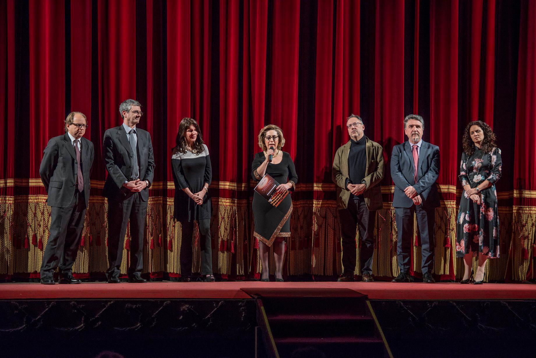 giuria, da sx: Daniele Agiman, Giovanni Vegeto, Cinzia Forte, Giusy Ferrara, Stefano Vizioli, Danilo Boaretto, Fedora Sorrentino