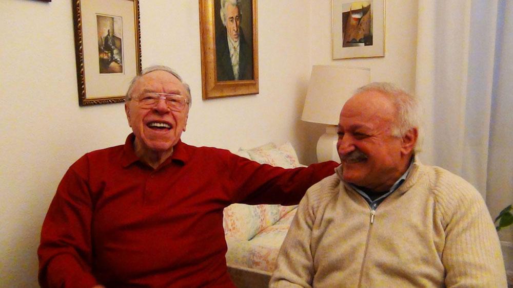 Bonaldo Giaiotti e Giuseppe Riva durante l'intervista - foto di OperaClick