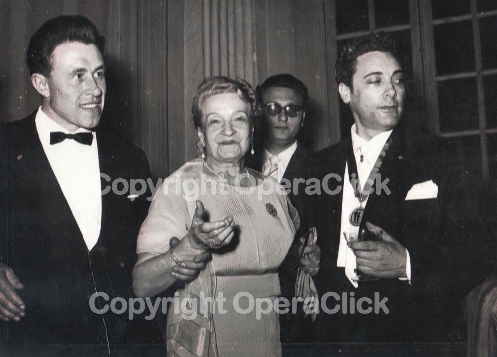 da sinistra: Bonaldo Giaiotti, Giulia Tess e Mario Del Monaco - Premio Viotti 1959