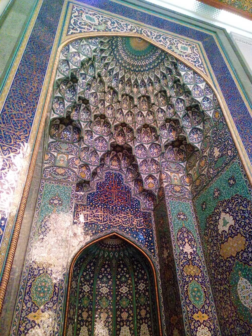 Scorcio interno della Moschea di Muscat - foto di Danilo Boaretto