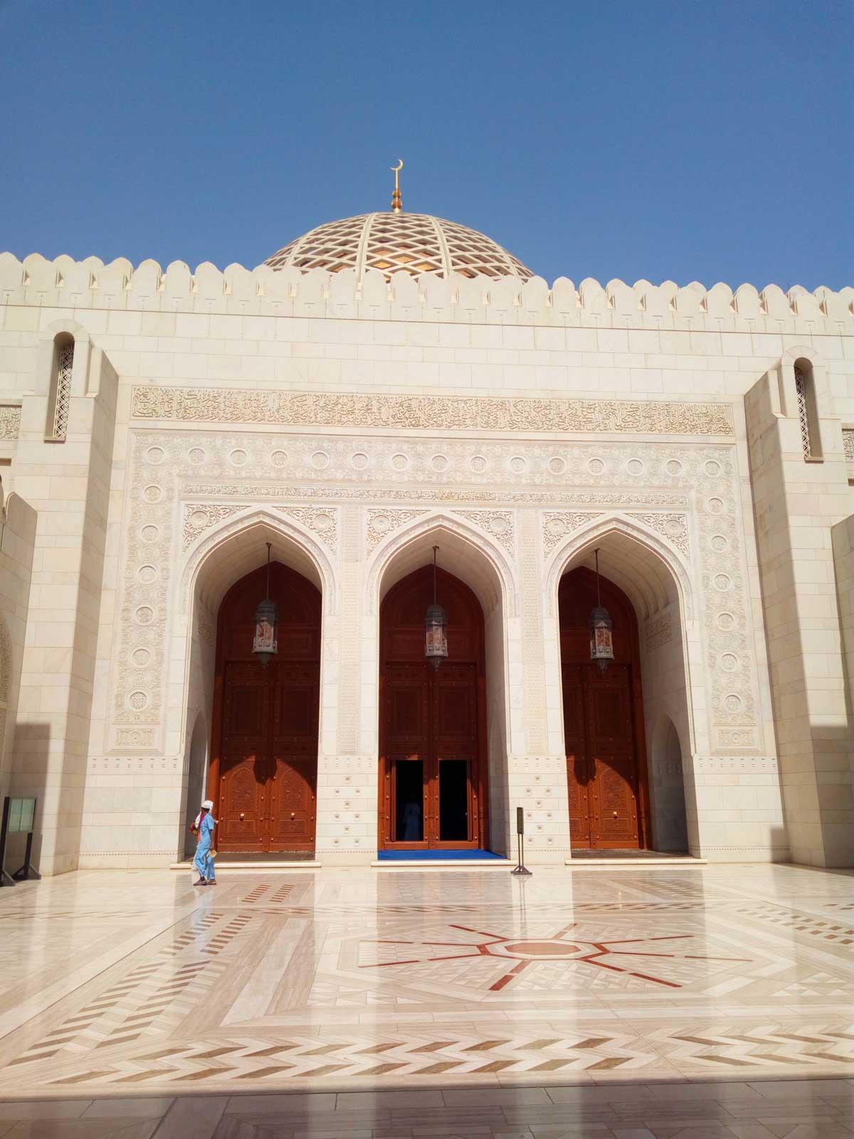 ingresso principale delle Moschea di Muscat  - foto di Danilo Boaretto
