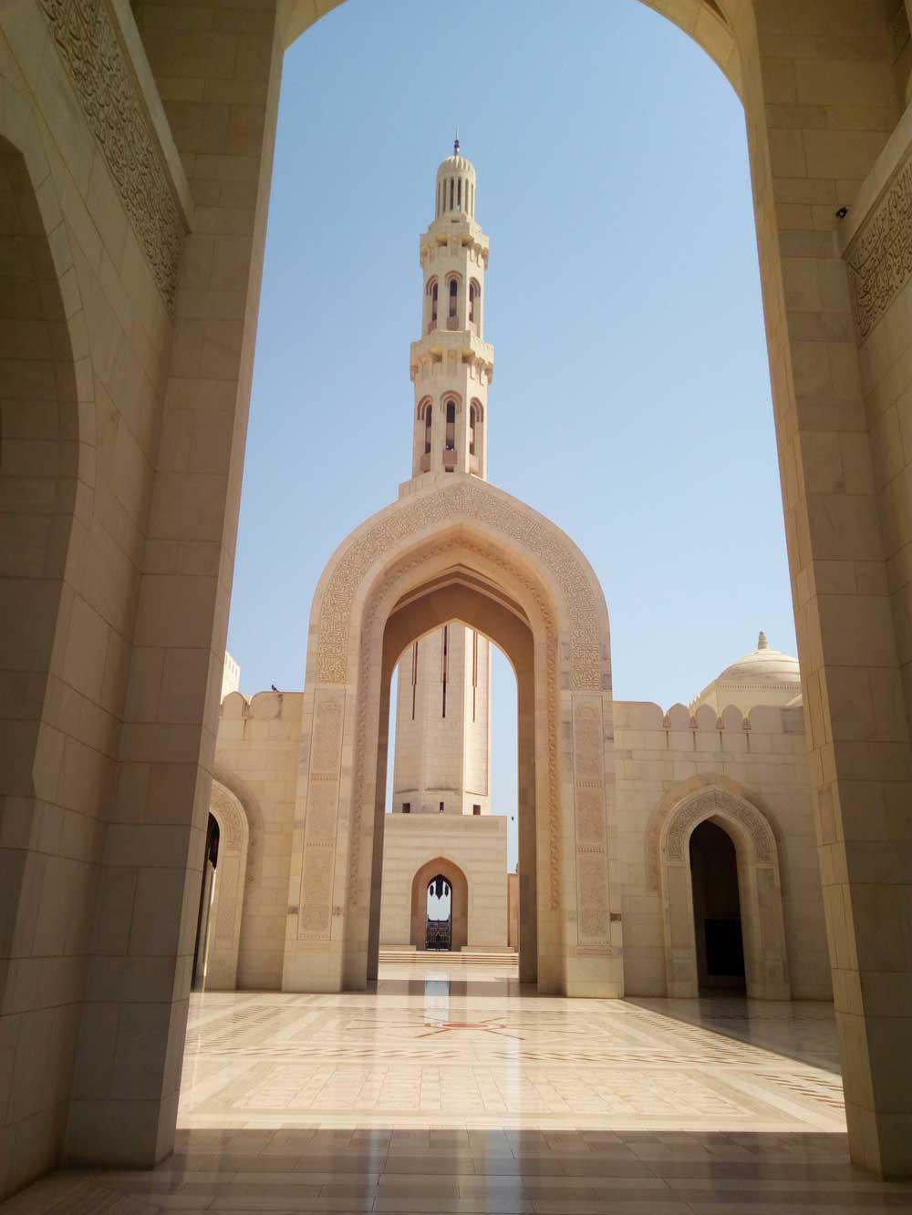 cortile interno alla Moschea di Muscat - foto di Danilo Boaretto