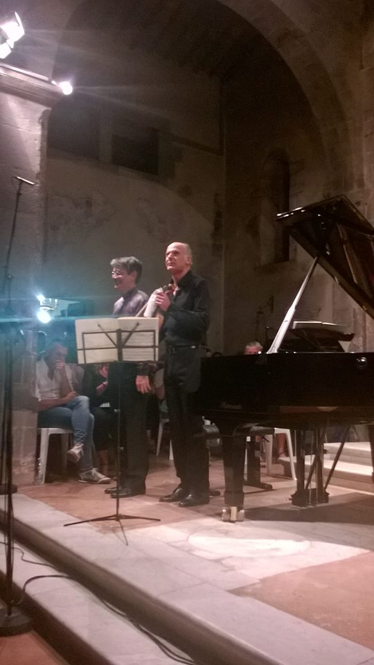 I due concertisti a Pieve a Elici (photo Fabio Bardelli)