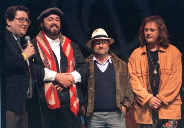 Luciano Pavarotti, Lucio Dalla e Zucchero