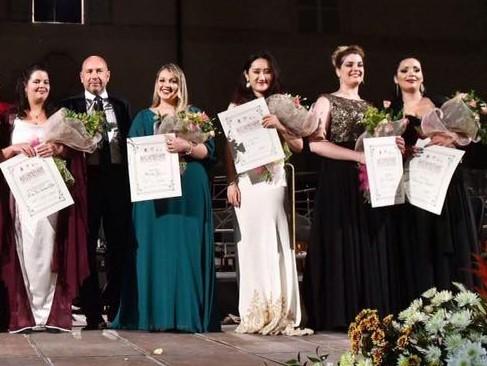 Foto Roberto Ricci - da sx Diana Rosa Cardenas Alfonso, Martina Gresia, Fan Zhou, Gioia Crepaldi, Anastasia Bartoli