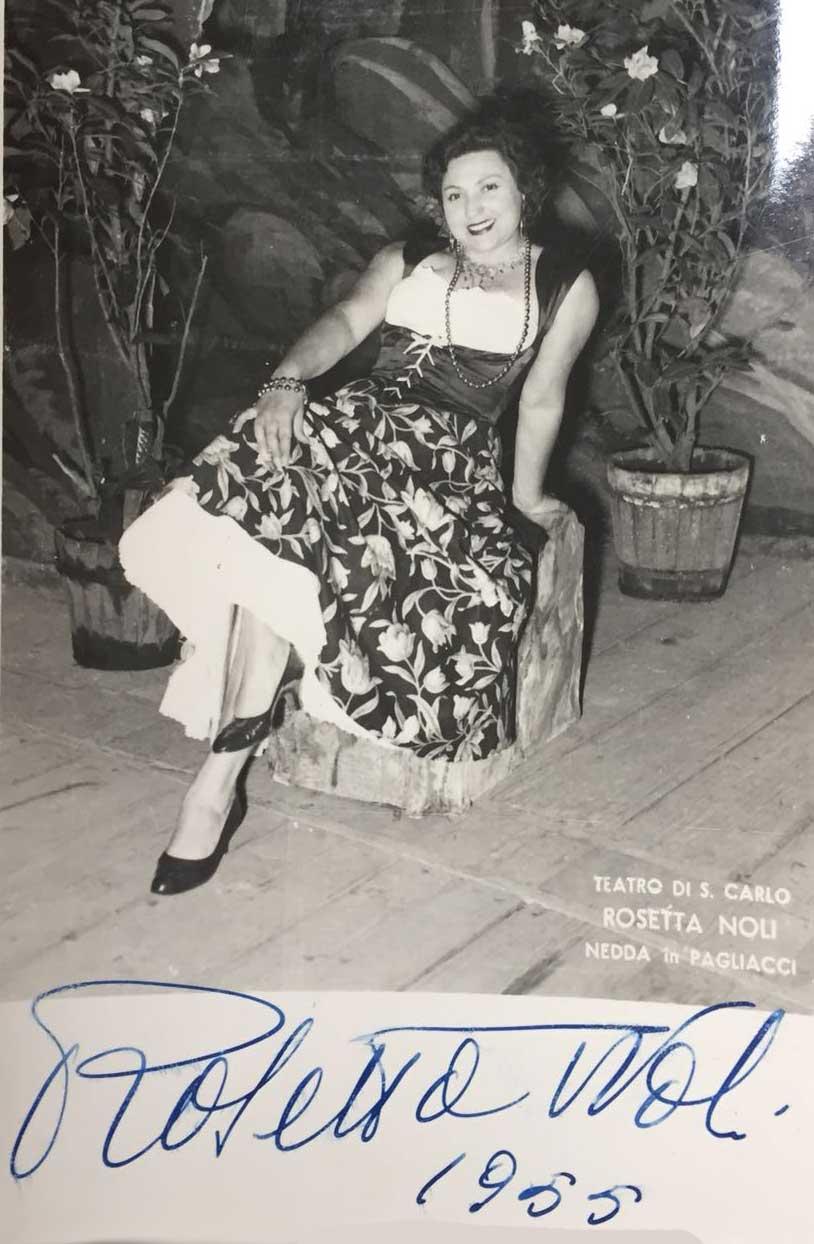 Rosetta Noli - foto della collezione privata di Silvia Campana