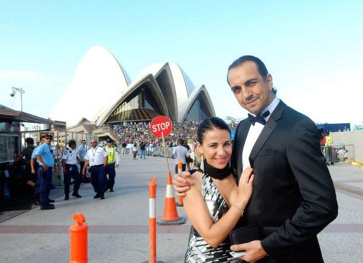 Claudio Sgura con sua moglie Floriana