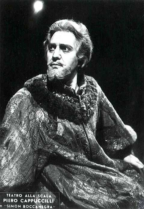 Piero Cappuccilli nel ruolo di Simon Boccanegra