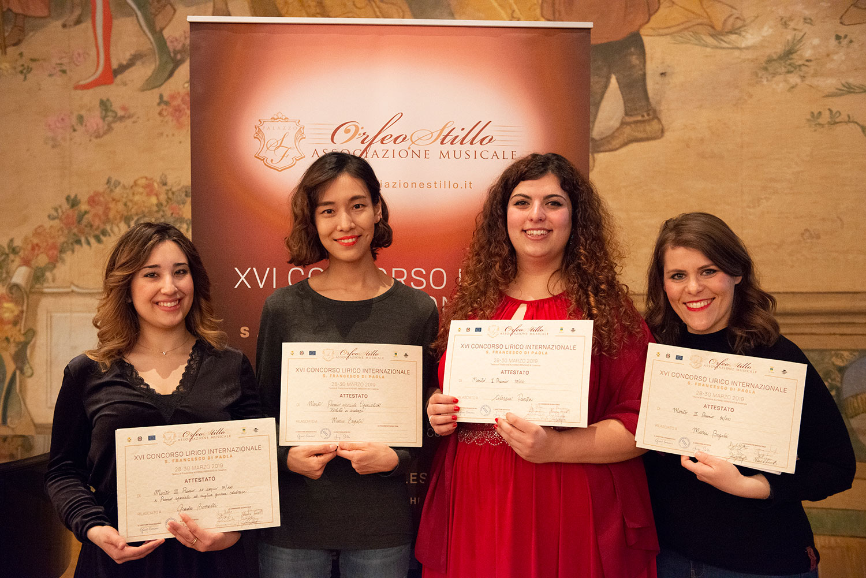 da sx: Giada Borrelli, Lim Eunsong, Alessia Panza e Maria Bagalà - credits Studio Controluce di Giuseppe De Seta